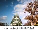 osaka castle in osaka  japan | Shutterstock . vector #445079461