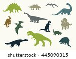 dinosaurs graphic vector... | Shutterstock .eps vector #445090315
