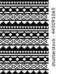 maori   polynesian style... | Shutterstock .eps vector #445091065