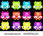 characters match 3 icons set   Shutterstock .eps vector #445094161