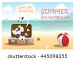 enjoy tropical summer holiday...   Shutterstock .eps vector #445098355