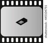 isometric sim card illustration.