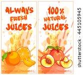 two vertical orientation flyers ... | Shutterstock .eps vector #445105945