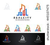 real estate vector logo design  ... | Shutterstock .eps vector #445107475
