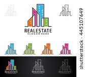 real estate vector logo design  ... | Shutterstock .eps vector #445107649
