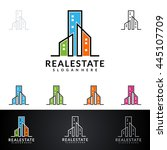 real estate vector logo design  ... | Shutterstock .eps vector #445107709