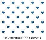 Watercolor Dark Blue Hearts On...