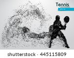 silhouette of a tennis player... | Shutterstock .eps vector #445115809