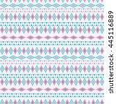 tribal texture geometric... | Shutterstock .eps vector #445116889
