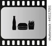 hamburger icon. french fries...