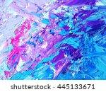 abstract watercolor art hand... | Shutterstock . vector #445133671