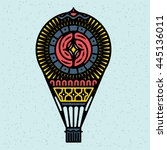 air baloon. vector illustration ... | Shutterstock .eps vector #445136011