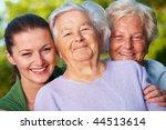 Three Smiling Women  Mother ...