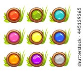 cartoon vector round buttons...
