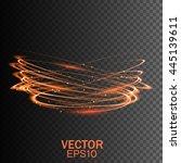 glow light effect. glowing fire ... | Shutterstock .eps vector #445139611