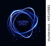 magic round frame. glow light... | Shutterstock .eps vector #445145881