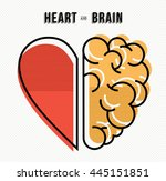heart and brain work as team... | Shutterstock . vector #445151851