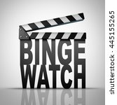 binge watch and watching... | Shutterstock . vector #445155265