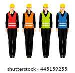 vector illustration of young... | Shutterstock .eps vector #445159255