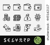 a quality set of icons related... | Shutterstock .eps vector #445162117