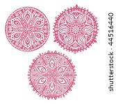 set of cute  circle ornament...   Shutterstock . vector #44516440