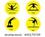 gymnastics web icon vector....