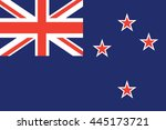 flat new zealand flag vector... | Shutterstock .eps vector #445173721