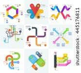 infographics  business template ... | Shutterstock .eps vector #445176811