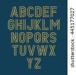 vector alphabet set. double font | Shutterstock .eps vector #445177027