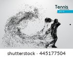 silhouette of a tennis player... | Shutterstock .eps vector #445177504