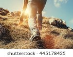 close up imade climber legs... | Shutterstock . vector #445178425