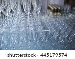 empty wineglasses and champagne ... | Shutterstock . vector #445179574