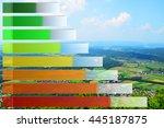energy efficiency rating.... | Shutterstock . vector #445187875
