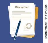 disclaimer document paper...   Shutterstock .eps vector #445190305