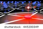 compromised network with iot... | Shutterstock . vector #445200349