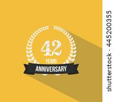 42 years anniversary with low... | Shutterstock .eps vector #445200355