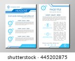 brochure flyer design layout ... | Shutterstock .eps vector #445202875