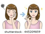 acne treatment before after... | Shutterstock .eps vector #445209859
