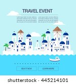 summer travel illustration   Shutterstock .eps vector #445214101