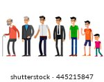 detailed character man... | Shutterstock .eps vector #445215847