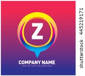 alphabet letter z colorful logo ... | Shutterstock .eps vector #445219171