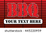bbq grill design is an... | Shutterstock . vector #445220959