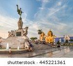 view of main square of trujillo ... | Shutterstock . vector #445221361