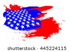 abstract paint brush flag of... | Shutterstock . vector #445224115