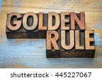 golden rule word abstract  ... | Shutterstock . vector #445227067