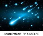 stars of a planet and galaxy in ... | Shutterstock .eps vector #445228171
