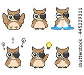 set of emotion feeling cute...