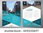 business brochure flyer design... | Shutterstock .eps vector #445233697