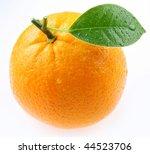 Orange Fruit With Orange Leaf...