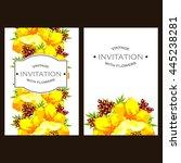 vintage delicate invitation...   Shutterstock .eps vector #445238281